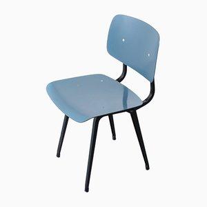Sedia da pranzo blu petrolio di Friso Kramer per Ahrend De Cirkel, anni '50