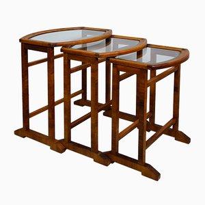Tavolini ad incastro Art Déco vintage, anni '20