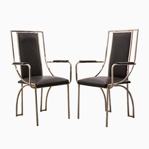 French Side Chairs, 1970s, Set of 2