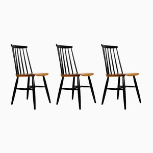 Mid-Century Plywood and Teak Veneer Dining Chairs, 1960s, Set of 3