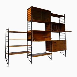 Juego de estanterías Ladderax modular vintage de Robert Heal para Staples Cricklewood, años 60