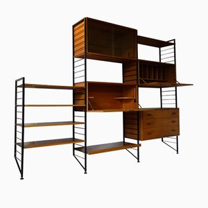 Vintage Ladderax Modular Shelf Set by Robert Heal for Staples Cricklewood, 1960s