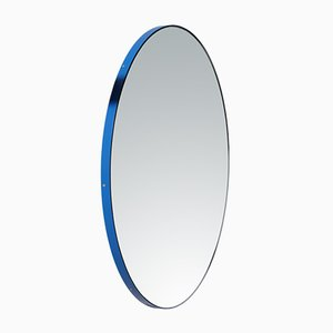 Small Orbis Wall Mirror with Blue Frame by Alguacil & Perkoff