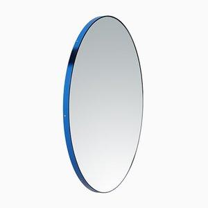 Espejo de pared Orbis pequeño con marco azul de Alguacil & Perkoff