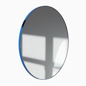 Orbis Round Mirror with Blue Frame by Alguacil & Perkoff