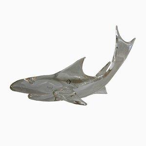 Grand Presse-Papier en Forme de Requin en Cristal par Carlo Nason pour V. Nason & C., 1981