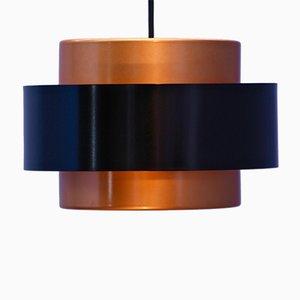 Lámpara de techo de Johannes Hammerborg para Fog & Mørup, años 70