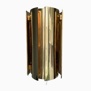 Lampada da parete vintage in ottone di Falkenbergs Belysning