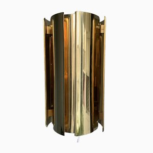 Lámpara de pared vintage de latón de Falkenbergs Belysning