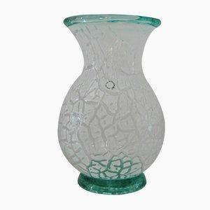 Vase Vintage en Verre Givré par Carlo Nason pour V. Nason & C., 1990s