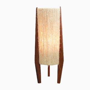 Lámpara de mesa trípode de pino de Ib Fabiansen de Fog & Mørup, años 60