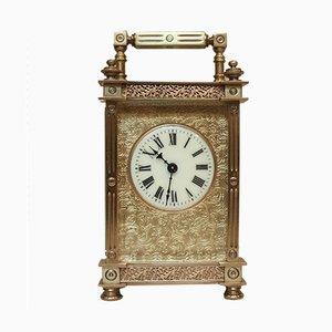 Reloj de carruaje francés antiguo