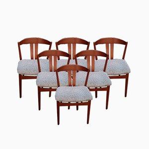 Mid-Century Esszimmerstühle von Johannes Anderen für Uldum Møbelfabrik, 6er Set