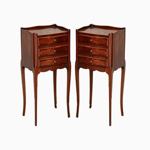 French Rosewood Night Stands, 1920s, Set of 2