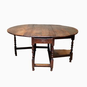 Large Antique Oak Dining Table