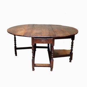 Mesa de comedor antigua grande de roble