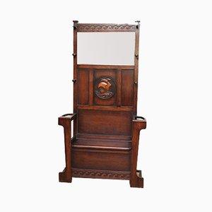 Mueble de recibidor antiguo de roble