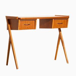 Schwedischer Schreibtisch aus Teak, 1950er
