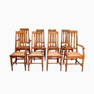 Sedie da pranzo antiche, set di 8