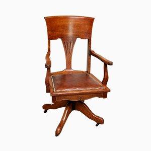 Chaise Pivotante Antique en Chêne