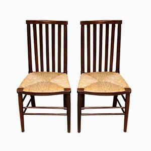 Antike Esszimmerstühle aus Buche, 2er Set