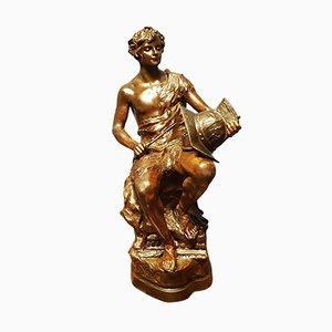 Antike Skulptur aus Terrakotta von Lescat für Friedrich Goldscheider