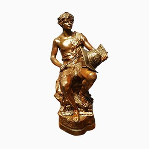 Escultura de terracota antigua de Lescat para Friedrich Goldscheider