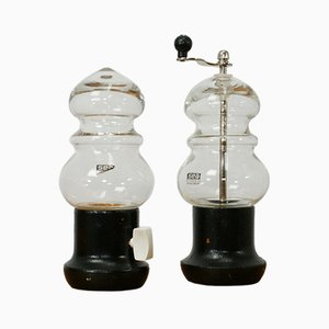 Salt and Pepper Mill Set by Bjorn Ramel for Sea Glasbruk, 1970s