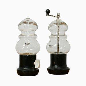Salz- & Pfeffermühle von Bjorn Ramel für Sea Glasbruk, 1970er