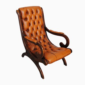 Chesterfield Leather Armchair, 1970s