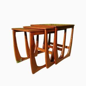 Tavolini ad incastro in teak di Sunlem, Danimarca, anni '60