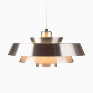 Aluminum Nova Pendant Lamp by Johannes Hammerborg for Fog & Mørup, 1960s