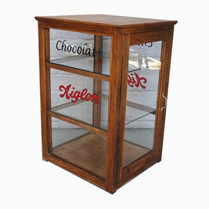 Chocolate Showcase Cabinet, 1950s