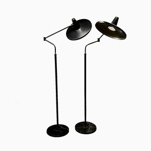 Vintage Floor Lamps from Stilnovo, 1950s, Set of 2