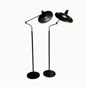 Vintage Stehlampen von Stilnovo, 1950er, 2er Set