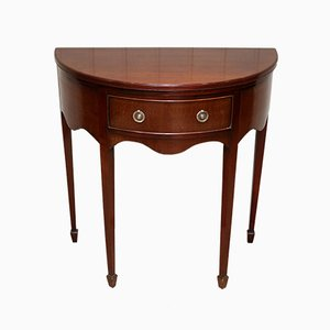 Antique Mahogany Demi-Lune Console Table
