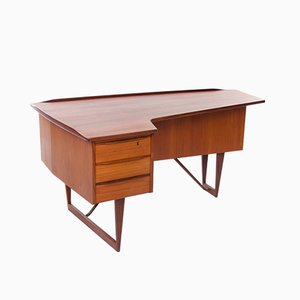 Mid-Century Danish Teak Boomerang Desk by Peter Løvig Nielsen for Hedensted Møbelfabrik
