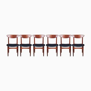 Mid-Century Rosewood Dining Chairs by Kurt Østervig for KP Møbler, Set of 6