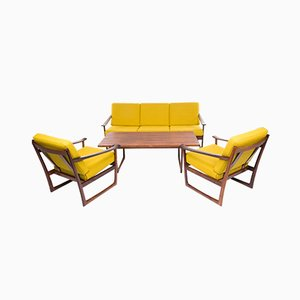 Vintage FD 135 Rosewood Living Room Set by Peter Hvidt for France & Søn, 1950s