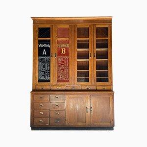 Mueble dispensador de boticario vintage, años 20