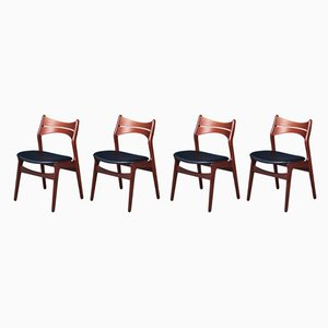 Mid-Century Model 310 Dining Chairs by Erik Buch for Christian Christensen, Set of 4