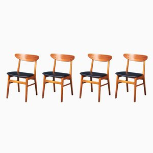 Mid-Century Teak Dining Chairs from Farstrup Møbler, Set of 4