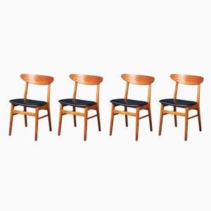 Sedie da pranzo Mid-Century in teak di Farstrup Møbler, set di 4