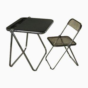 Juego de escritorio y silla de Giancarlo Piretti para Castelli, años 60