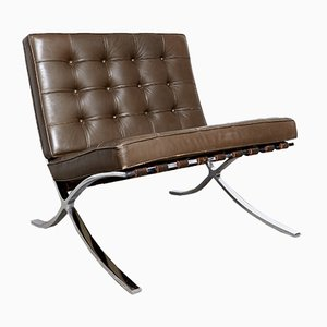 Fauteuil Club Barcelona MR90 par Ludwig Mies van der Rohe pour Knoll International, 1980s