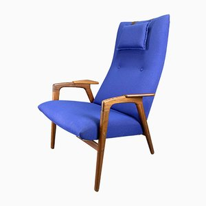 Vintage Blue Lounge Chair, 1960s
