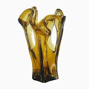 Jarrón Mid-Century de cristal de Murano de Seguso