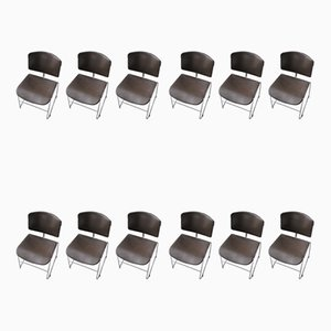 Chairs by Max Stacker for Steelcase, 1970s, Set of 12
