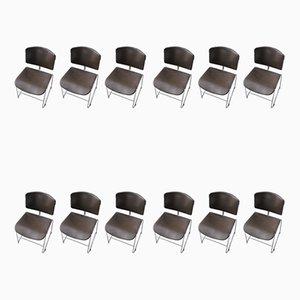Chaises par Max Stacker pour Steelcase, 1970s, Set de 12