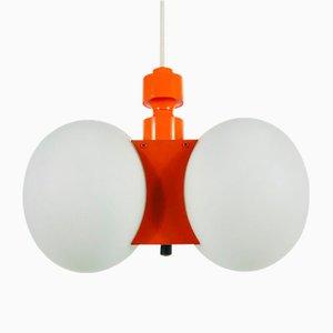 Lampe à Suspension Mid-Century en Verre Opalin de Kaiser Idell / Kaiser Leuchten, 1960s